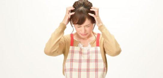 慌てる主婦のイメージ